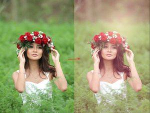 photoshop vintage color effect